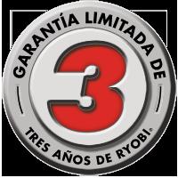 Logo de la garantía por tres años de Ryobi