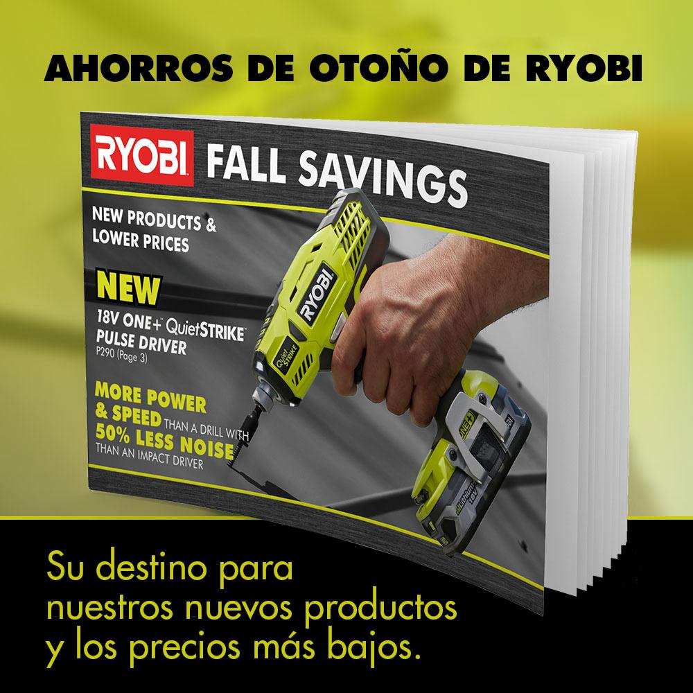 Imagen: AHORROS DE OTOÑO DE RYOBI. Su destino para nuestros nuevos productos y los precios más bajos.