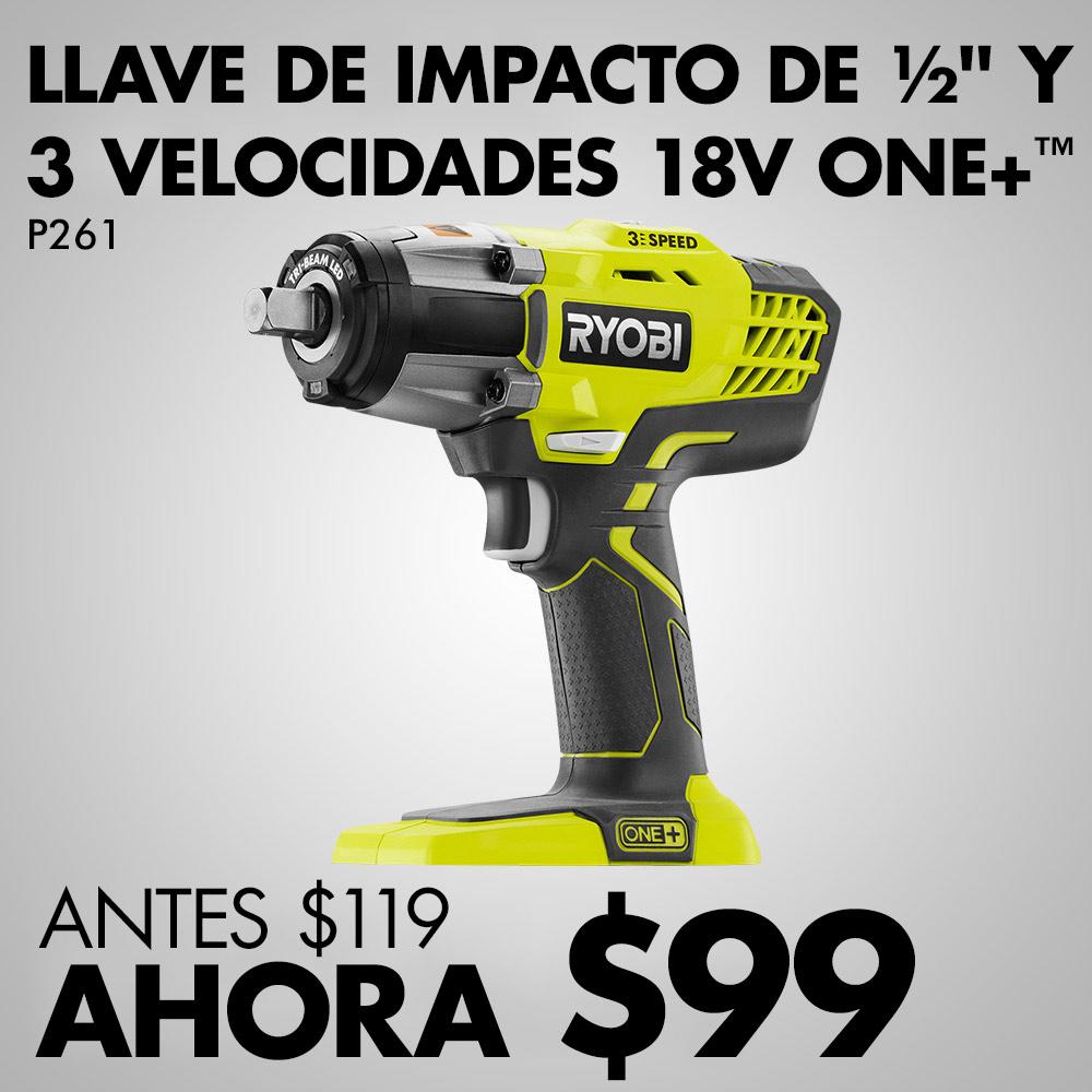 """LLAVE DE IMPACTO ONE+™ DE 18 V, 3 VELOCIDADES Y ½"""""""