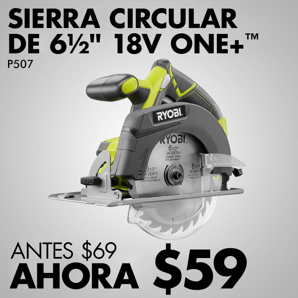 "SIERRA CIRCULAR ONE+™ DE 18 V Y 6-1/2"""